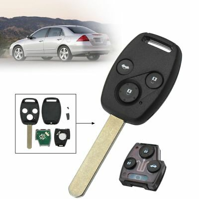 3 Button Remote Key Fob w/ ID46 Chip 313.8Mhz For Honda Accord Civic 2003-2007