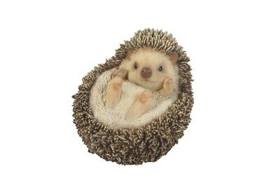 Hedgehog Baby On Back New Realistic Life Size Statue Figurine Home Garden Decor