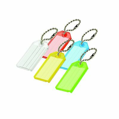 Lucky Line Key Tag with Ball Chain 2 Pack Assorted Colors (20102)