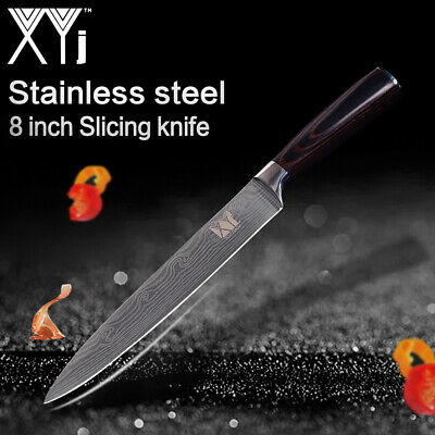 Stainless Steel 8 Inch Slicing Kitchen Knife Cutlery Utility Chef Santoku Knives