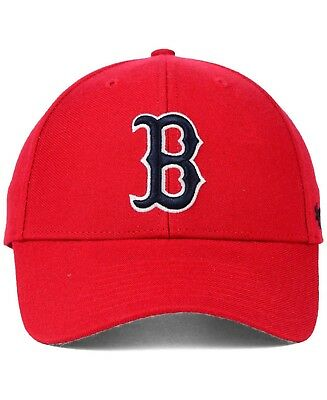 47 Brand Boston Red Sox Adjustable MVP Structured Dad Hat Cap Red Navy B  MLB.   a2ab59685b08