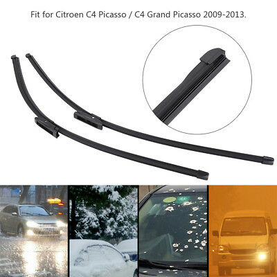 Pair Front Windscreen Wiper Blades For Citroen C4 Picasso / C4 Grand Picasso WD