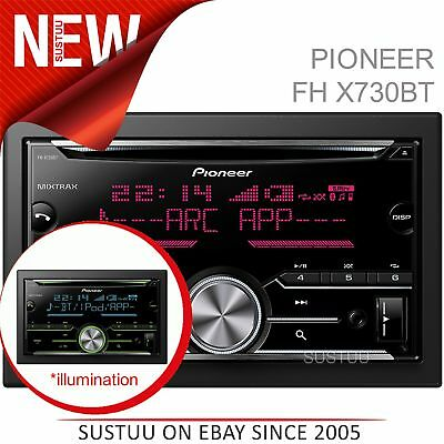 Pioneer FH X730BT Car Stereo Player│2DIN│CD│USB│Aux│Bluetooth│iPodiPhone-Android
