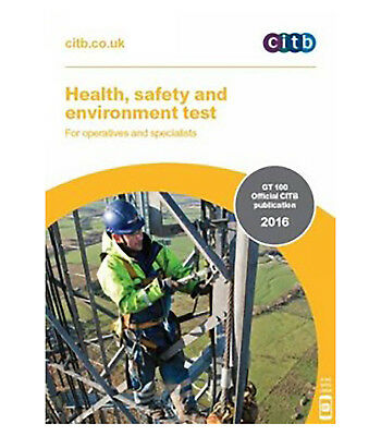 CITB Health Safety & Environment Test Revision Book GT100/16 For CSCS Book