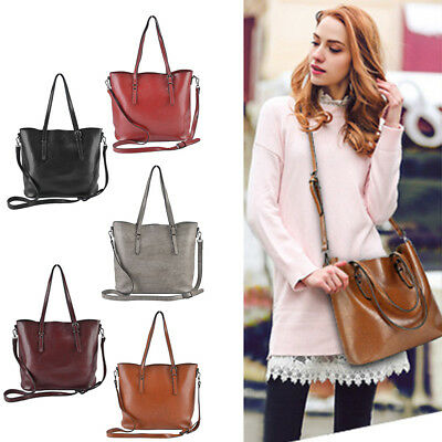 High Quality Women Lady Soft Leather Handbags Shoulder Bags Messenger Tote Purse