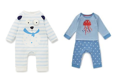 New Baby Boys Ex Store All In Ones Outfit Romper Jumpsuit 0-1 0-3 3-6 6-9 9-12 M