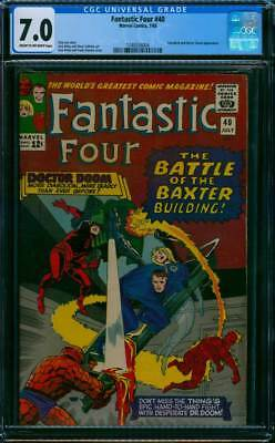 Fantastic Four # 40  Battle of the Baxter Building !  CGC 7.0  scarce book !