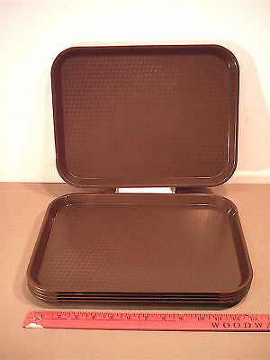 "Used,Camdro,13.6""x10.5""x5/8""D,Brown,FOOD TRAY PLANT DRIP PAN"