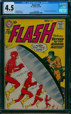 Flash # 109  Return of the Mirror Master !  CGC 4.5  scarce book !