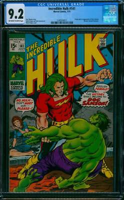 Incredible Hulk # 141  First appearance of Doc Samson !  CGC 9.2  scarce book !