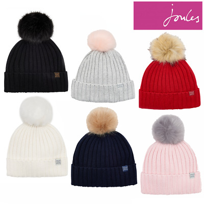 0f7b26bb4 BNWT JOULES HEAVYWEIGHT Toasty Wool Mix Pop A Pom Bobble Warm Cosy ...