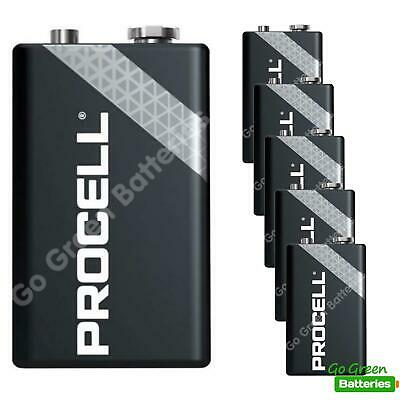 6 x Duracell 9V PP3 Industrial Procell Batteries, Smoke Alarm, LR22 BLOC MN1604