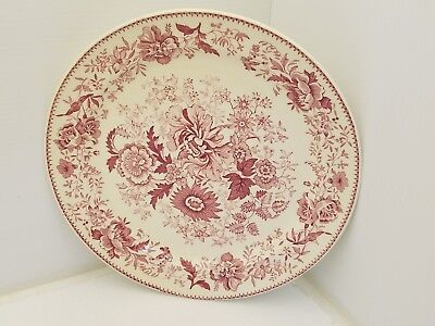 """Taylor Smith Taylor 8521 Red Flower 9"""" Dinner Plate"""