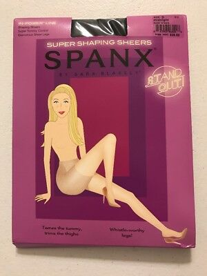 NWT SPANX Super Shaping Sheers Pantyhose In Power Line Midnight Size D See Pics