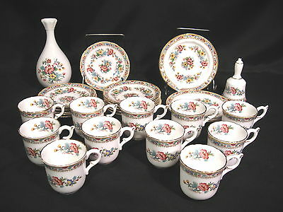 Coalport Ming Rose  English Bone China Group of 26 Pieces