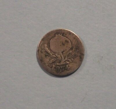 1874 Colombia 2 1/2 Centavos Silver World Coin Bogota RARE Low Mintage 75,000