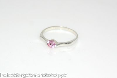 June Birthstone Ring Pink Ice and Clear CZ/'s Gold Vermeil w// Laser Cut Shoulder