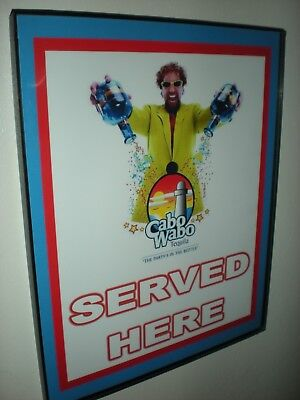 Cabo Wabo Sammy Tequila Bar Framed Advertising Print Man Cave Sign