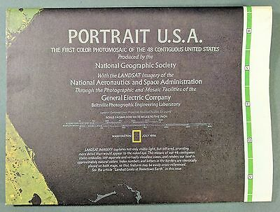 National Geographic July 1976 ~ Portrait USA ~ The First Photomosaic Color Map