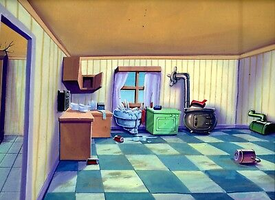 Back To The Future / 1992 Amblin Original Production Hand Painted Background.