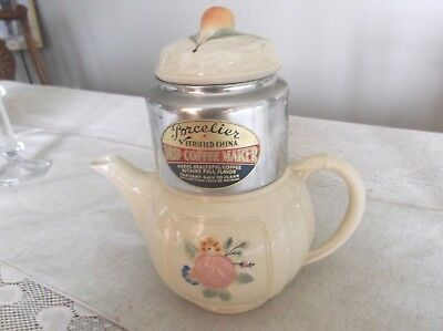 Vintage Porcelier Vitrified China Drip Coffee Maker