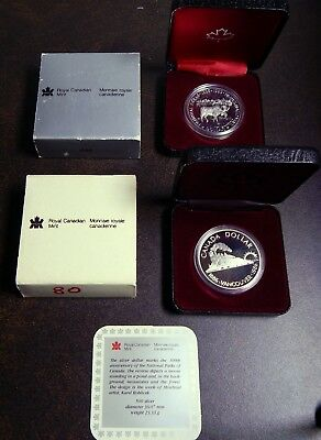 1985 Canada National Parks & 1986 Vancouver Silver Dollars - Proof Like Gems