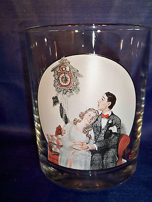 Norman Rockwell Glassware Collection Courting At Midnight March 22, 1919