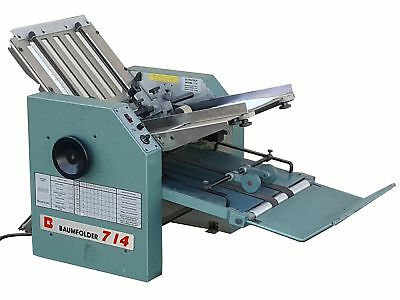 "BAUMFOLDER ULTRAFOLD 714 SERIES 14""x20"" 6-FOLD PERFORATE FRICTION FEED FOLDER"