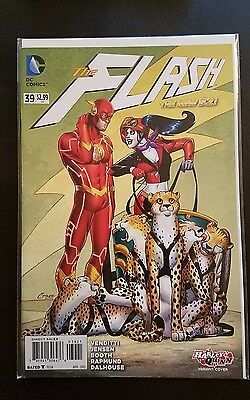 The Flash #39 (April 2015, DC) Harley Quinn variant cover