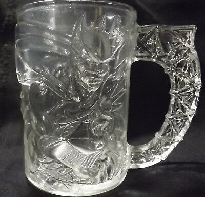 "Batman forever McDonalds collectible glass coffee cup mug  ""Batman"" 1994"