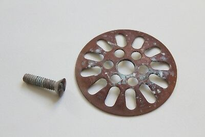 antique sink tub shower drain strainer | vtg victorian plumbing pipe deco