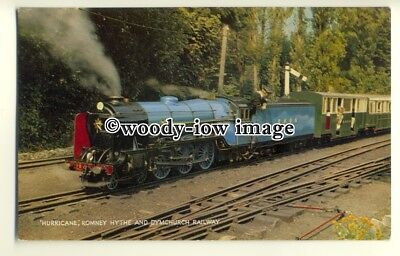 "ry1268 - Romney Hythe & Dymchurch Railway, Steam Engine "" Hurricane"" - postcard"