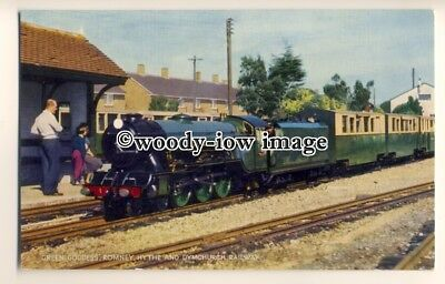 ry1271 - Romney Hythe & Dymchurch Railway, The Green Goddess - postcard