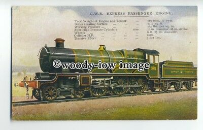 "ry1277 - G.W.R. Express Passenger Engine ""Caerphilly Castle"" No.4073 - postcard"