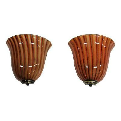 Monumental Pair Of Murano Multi Color Wall Sconces Circa 1940s