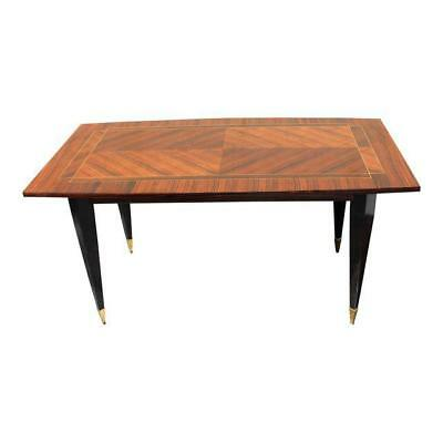 Stunning French Art Deco Macassar ''ZigZag'' Dining Table or Desks Circa 1940s.