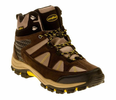 NEW! GOODYEAR Mens Teton Work Boot Outdoor Hiking Water Resistant Boots BROWN 11