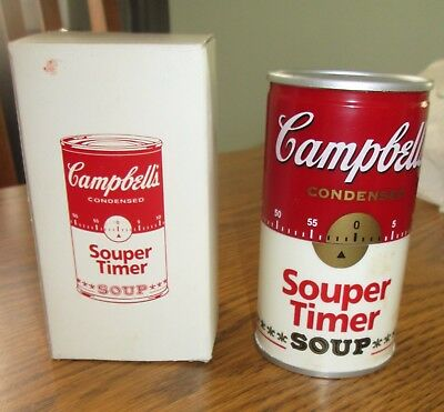 Campbells Soup Can Kitchen Timer  60 minutes Works