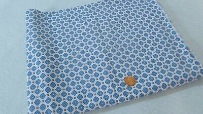 Vintage Blue Geometric Feed Sack Fabric