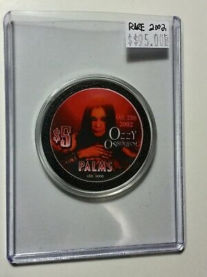 Ozzy Osbourne rare Palms casino limited issue chip 2002
