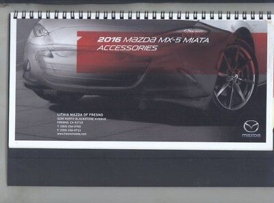 2016 Mazda US MX5 Miata Accessories Dealer Showroom Display Brochure wy9391