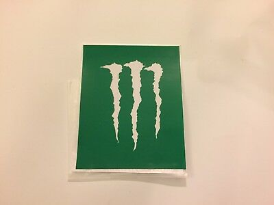 "New The Rarest Monster Energy Drink Sticker White Claw/Green Background 4"" x 3"""