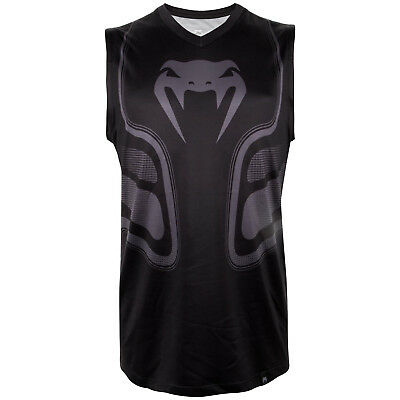 Venum Dry Tech MMA Vest Gym Training Martial Arts Tank Top BJJ Black Mens