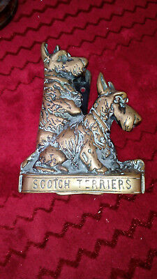 Brass `Scotch Terriers` door knocker