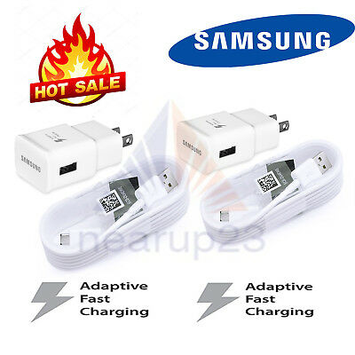 OEM Fast Rapid Wall Charger 5 Ft Cable For Samsung Galaxy S6 S7 Edge Note5 Note4