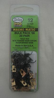 Kadee 12 HO Scale #58 Scale Head Magne-Matic Metal Couplers 20-pair