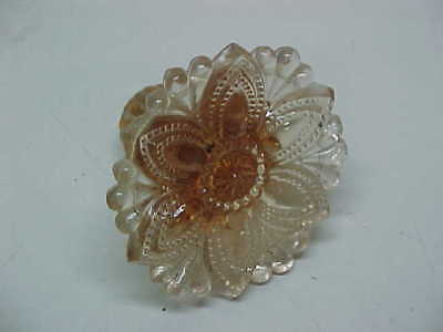 Antique Old Vintage Pink Depression Glass Curtain Tie Back - Look!