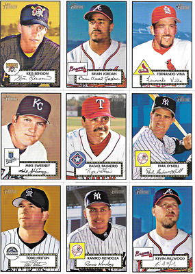 2001 Topps Heritage Red Back Singles #1 Thru 199***you Pick***