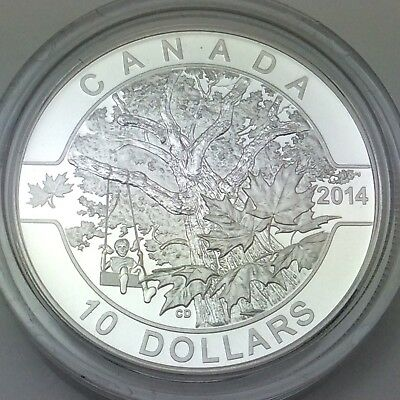 2014 Proof Canada 10 Ten Dollar Down Old Maple Silver RCM Canadian Coin D111