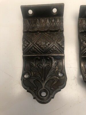 Antique Banister Stairway Bracket Cast Iron Ornate C. 1880's Sold In Lot Of 2